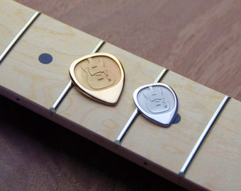 Telecaster Style Silver or bronze guitar Pick