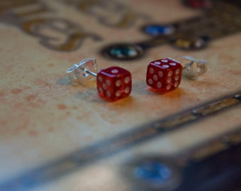 Roleplaying DnD Miniature Dice Earrings (Choose Your Color)