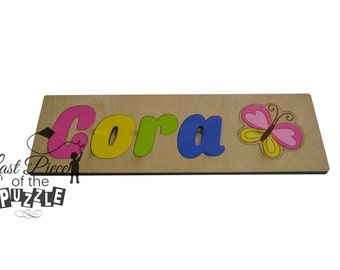 Bright Butterfly Jumbo Wooden Name Puzzles Personalized Children's Name Puzzles id268490751