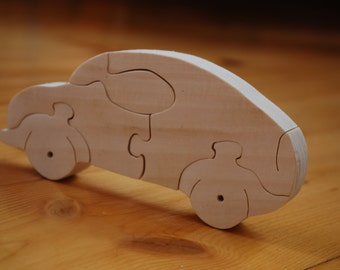 Car Puzzle, Wooden Car, Wooden Toy Car, Wooden toy, Classic Wooden Car, Wooden car, Waldorf toy, Eco friendly toy