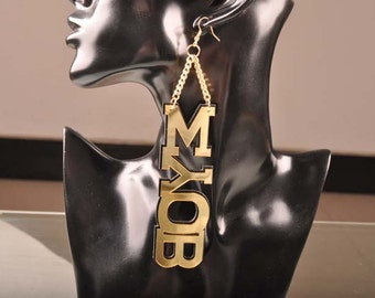NEW MYOB Earrings mind your own business New earrings dangle earrings big dangle earrings basketball wives earrings