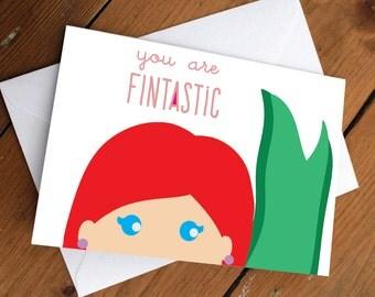 Princess ariel card