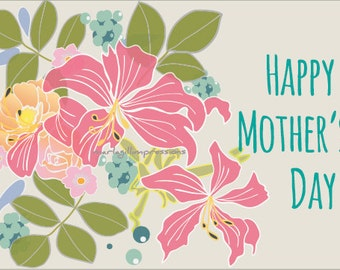 Mother's Day Cards, Digital Download, Ready to print.