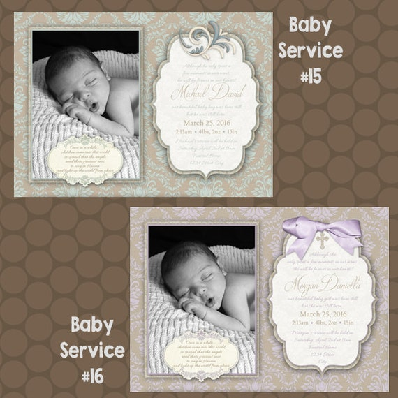 Stillborn infant loss angel baby memorial service funeral for Www uprint com templates