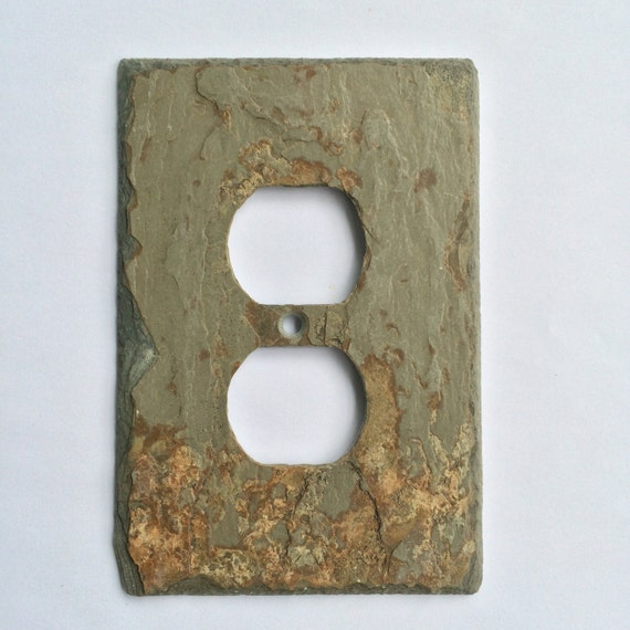 Patina Gray Slate Stone Outlet Cover Outlet Cover Gray Light