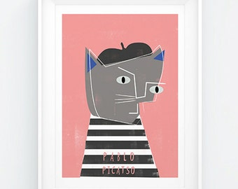 Pablo Picasso Cat Card