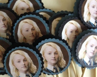 Harry Potter LUNA Cupcake Toppers  Hogwarts Birthday  Harry Potter Party