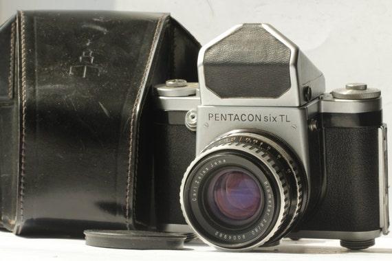 PENTACON SIX TL 6x6 Medium Format Camera Carl Zeiss Jena Mc Biometar 2.8/80 ж