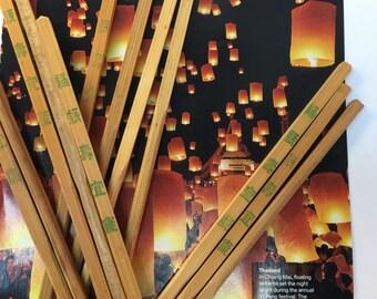 Chopsticks set vintage bamboo 7 pairs