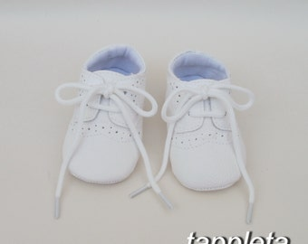 Oxford Shoes, Baptism booties, baby boy shoes, girl booties, first shoes, White Shoes, Infant Soft Sole, First Walkers, babyshower gift