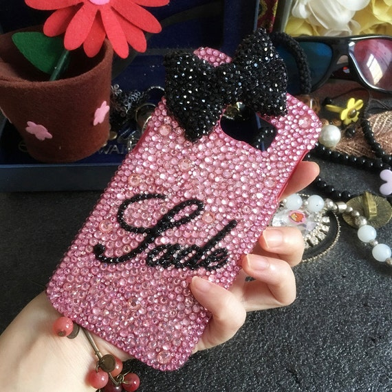pink bling personalized diy name cursive letter words luxury