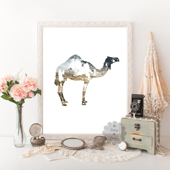 Camel Home Decor Camel Print Animal Print Modern Art