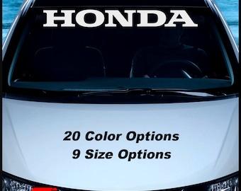 HONDA Windshield Decal Vinyl Window Sticker Car Sun Visor Sticker