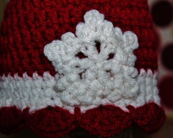 Adorable newborn snowflake hat