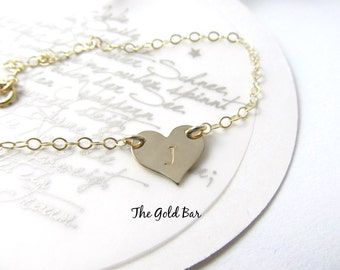 Small Heart Necklace Personalized Heart Necklace Rose Gold Necklace Girlfriend Gift Dainty Necklace Initial Love Necklace Valentines Day