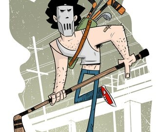 8x11 Casey Jones digital print