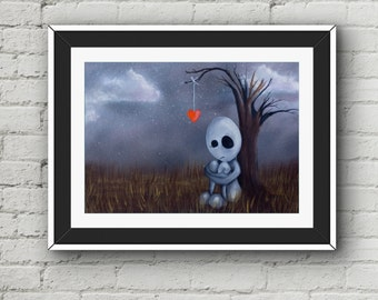It's Lonely Here - Painting Print