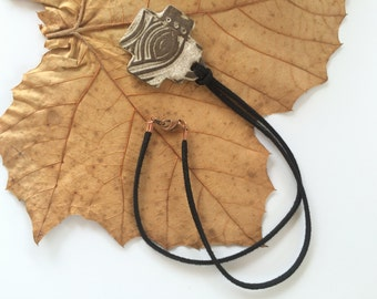 Handmade Clay Cross necklace