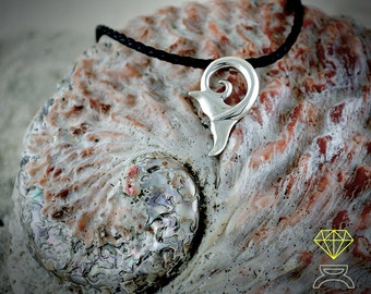 Whale Tail Pendant,Handcrafted in Sterling Silver