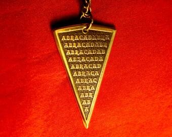 Abracadabra Arrow Point mystical kabbalah amulet Abraxas pendant