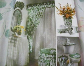Vintage 1996 Sewing Pattern   Simplicity Crafts 7183   Bathroom   Shower  Curtain, Sink Skirt