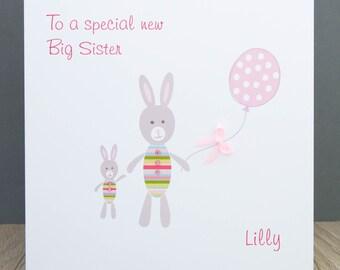 Personalised New Big Sister Card