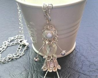 Funky Steampunk Girl Pendant & Chain