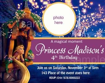 Rapunzel Invitation. Rapunzel Birthday Invitation. Rapunzel Printables. Tangled Invitation. Digital (you print)