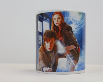 Doctor Who, Matt Smith, Karen Gillan, Amy Pond Ceramic Coffee Mug