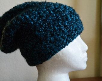 Adult Crocheted Slouchy Beanie