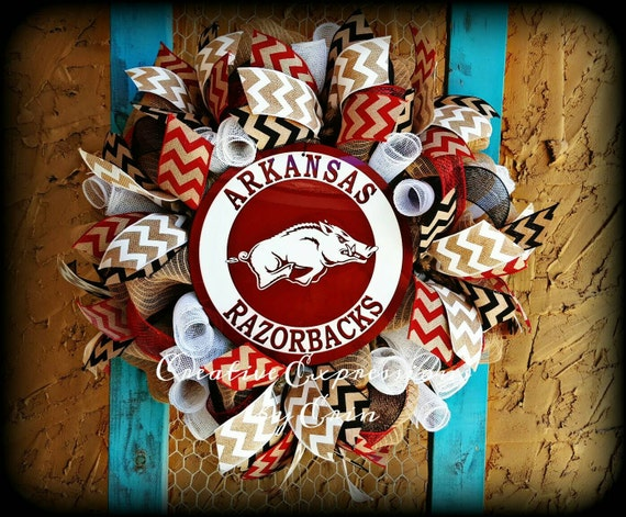 Arkansas Razorbacks Wreath Razorbacks By Cexpressionsbyerin Home Decorators Catalog Best Ideas of Home Decor and Design [homedecoratorscatalog.us]