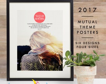 LDS YW 2017 Mutual Theme Double-Exposure Photo Posters