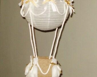 Hot Air Balloon Paper Lantern, Room Decor. Baby Shower. First Birthday, nursery decor