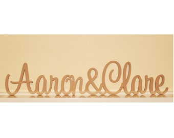 Personalised Wedding sign with &
