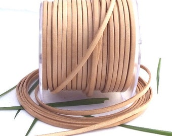 Flat natural leather 0,11 inches by 1 METER