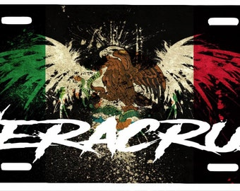 "Veracruz  Mexico Aluminum License Plate Placa  6"" x 12"""
