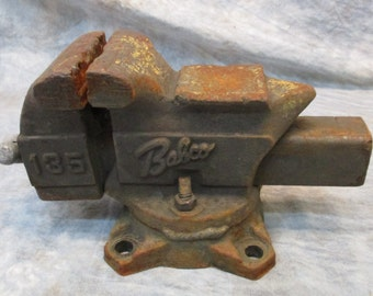 3 1/2 Jaw Swivel Bench Table Swivel Vise Blacksmith Anvil Vintage Babco 135