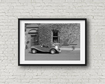 The Old Car - Black and White Photography