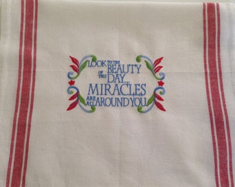 Kitchen Towel with Embroidered Miracles REDUCED