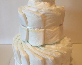 Undecorated White Diaper Cake
