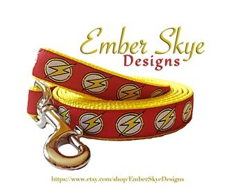 """The Flash / Bolt Leash with Yellow Webbing - 3/4"""" width"""