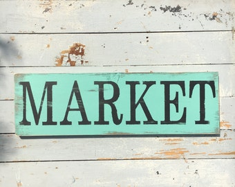 Market sign | kitchen decor | farmers market | wooden sign | wall decor | wall art | home decor | rustic | pantry sign | farmhouse decor |