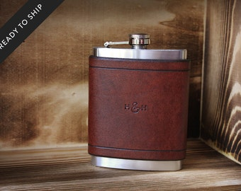 Leather Flask 8oz