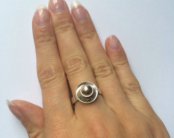 Norwegian Modernist Ring by Aksel Holmsen - Sterling Silver - c1950s