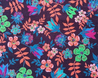 "Edenham J Liberty Fabric tana lawn 10"" x 10"" square (25,4 cm x 25,4 cm) purple pink green blue red The Weavers Mill"