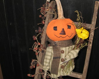 Pumpkin Doll - Fall Decoration - Autumn Decoration - Shelf Sitter