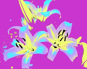 Abstract Lilies I