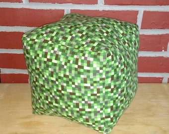 Inspired by Minecraft Cube Throw Pillow