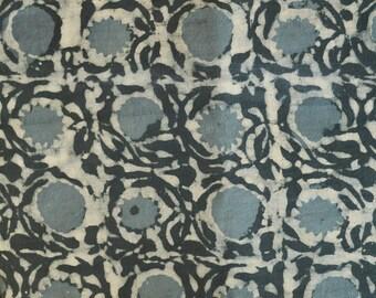 Gray fabric, Cotton Fabric, Printed Cotton, Hand Block Print Fabric, Cotton Fabric by the yard, Indian Fabric, Block Printed Fabric