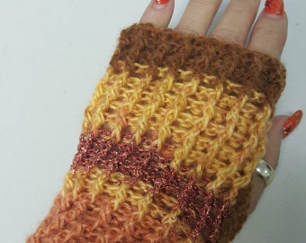 Fingerless gloves, texing mits